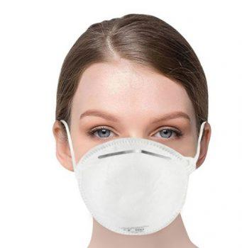 [EU DIRECT - EU] 1PC EU Standard FFP2 NR Disposable Respirator Mask With CE Certified Filter Efficiency 95% Above Easy Breath Comfortable Wear for Flu Protection PM 2.5 Anti-Virus Pollution Allergy Haze- White