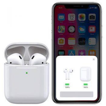 [EU DIRECT - CZ] Apods i500 Bluetooth 5.0 Pop-up Window TWS Earbuds Independent Usage Wireless Charging IPX5 - White
