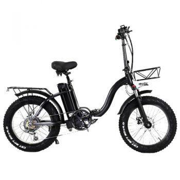 [EU DIRECT - PL] CMACEWHEEL Y20 Electric Moped Bike 20 x 4.0 Fat Tires Five Speeds 750W Motor 15AH Battery Smart Display - Black