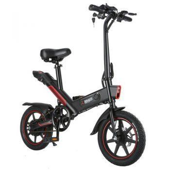 [EU DIRECT - EU] DOHIKER Y1 Folding Electric Bicycle 36V 350W 14 inch 10Ah Battery 25km/h City Bike LED Headlight IP54 Waterproof - Black