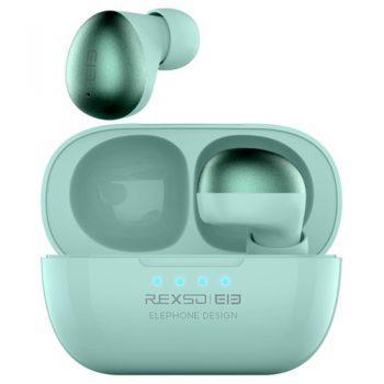 [EU DIRECT - DE] Elephone Elepods S TWS Bluetooth 5.0 Earphones Noise Cancelling Mic Low Latency Gaming Earbus - Green