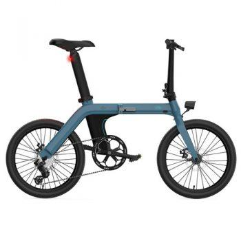 [EU DIRECT - PL] FIIDO D11 Folding Electric Moped Bicycle 20 Inches Tire 25km/h Max Speed Three Modes 11.6AH Lithium Battery 100km Range Adjustable Seat Dual Disc Brakes with LCD Display for Adults Teenagers + Mudguards - Blue