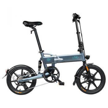 [EU DIRECT - PL] FIIDO D2S Folding Moped Electric Bike Gear Shifting Version City Bike Commuter Bike 16-inch Tires 250W Motor Max 25km/h SHIMANO 6 Speeds Shift 7.8Ah Battery - Dark Gray