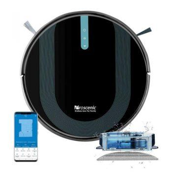 [EU WAREHOUSE - EU] Proscenic 850T Smart Robot Cleaner 3000Pa Suction Three Cleaning Modes 500ml Dust Collector 300ml Electric Water Tank Alexa Google Home App Control - Black