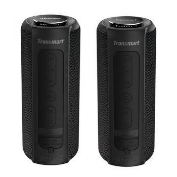 [EU DIRECT - ES] Tronsmart Element T6 Plus Portable Bluetooth 5.0 Speaker with 40W Max Output, Deep Bass, IPX6 Waterproof, TWS - Black