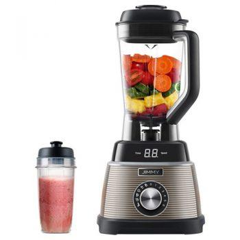 [EU DIRECT - ES] Xiaomi JIMMY B53 Smoothie Blender With LED Display 5 Intelligent Modes 1000W 6 Speed 1.5L BPA-free Glass Jug 25000 RPM High Speed 4 Sharp Blades Self-cleaning with Carry-on for Ice Nuts Soup Sauce - Gray