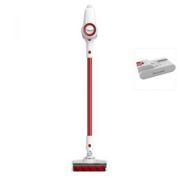 [EU DIRECT - PL] Xiaomi JIMMY JV51 Lightweight Cordless Stick Vacuum Cleaner 115AW Powerful Suction Anti-winding Hair Mite Cleaning Vacuum Cleaner EU Plug Global Version + Extra Battery Pack - Red