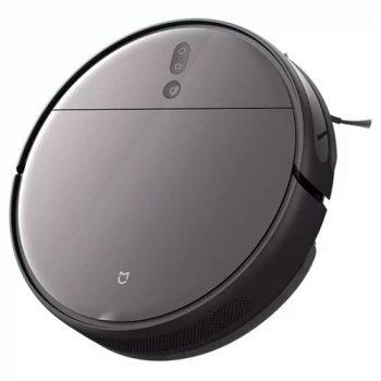 Xiaomi Mijia 1T Robot Vacuum Cleaner Visual Dynamic Navigation 3000pa Suction 3D Obstacle Avoidance 5200mAh Battery 180min Running Time APP Control - Black