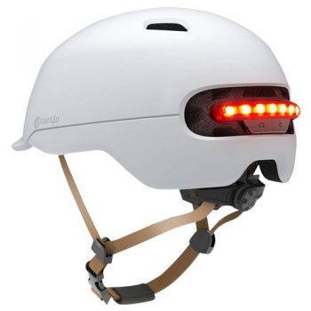 [EU DIRECT - EU] Xiaomi Smart4u SH50 Bicycle Smart Flash Helmet Automatic Light Perception Warning Light Long Battery Life IPX4 Waterproof Size L - White