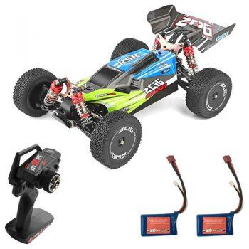 [EU DIRECT - DE] Wltoys 144001 1/14 2.4G 4WD 60km/h Electric Brushed Off-Road Buggy RC Car RTR Two Batteries - Green
