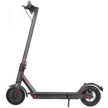 [EU DIRECT - EU] D8 Pro Electric Folding Scooter 7.8Ah Battery BMS 350W Motor Max Speed 25km/h Rear Light Aluminum Body 8.5 Inch Solid Honeycomb Tire - Black