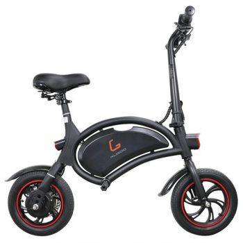 [EU DIRECT - PL] KUGOO KIRIN B1 Folding Moped Electric Bike E-Scooter 250W Brushless Motor Max Speed 25km/h 6AH Lithium Battery Disc Brake 12 Inch Pneumatic Tires - Black