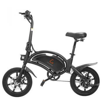 [EU DIRECT - PL] KUGOO KIRIN B2 Folding Moped Electric Bike E-Scooter with Pedals 400W Brushless Motor Max Speed 45km/h 7.5AH Lithium Battery Disc Brake 14 Inch Pneumatic Tires Smart App Control - Black